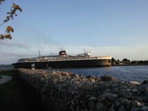 The SS Badger leaving Ludington